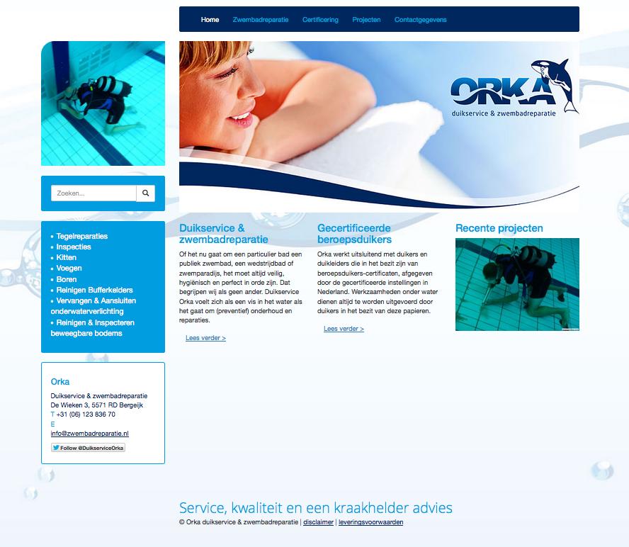 Klant van SEO Scale: Orka duikservice en zwembadreparatie